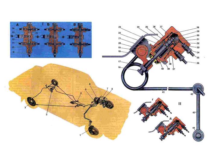 Тормозной механизм переднего